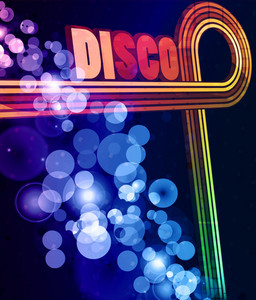 Colorful Disco Background Vector Illustration