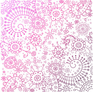 Colorful Doodles Background. Vector Illustration.