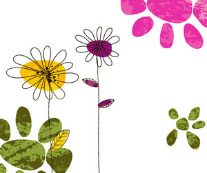 Colorful Doodles Background Vector Illustration