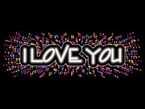 Colorful Dots With I Love You