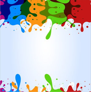 Colorful Drops Background
