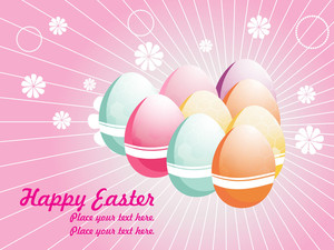 Colorful Egg With Pink Background