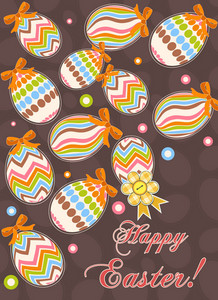 Colorful Eggs Vector Illustration
