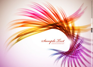 Colorful Feather Wave
