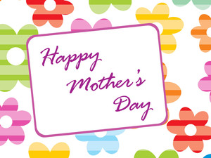 Colorful Floral Background For Mother Day