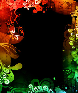 Colorful Floral Background Vector Illustration