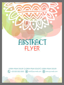 Colorful floral decorated Abstract flyer