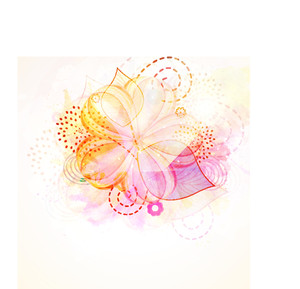 Colorful floral design decorated background.