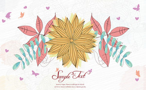 Colorful Floral Vector Background