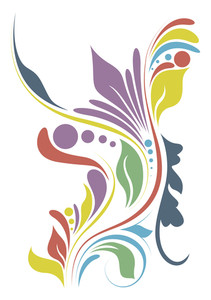 Colorful Flourish Design Art