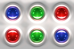 Colorful Glassy Buttons