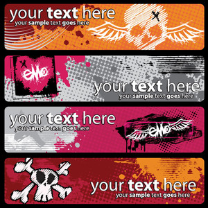 Colorful Grunge Emo Banners