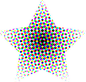 Colorful Halftone Star