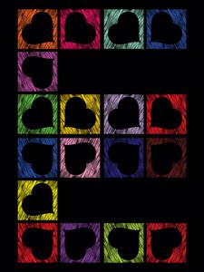 Colorful Heart Shape Pattern E