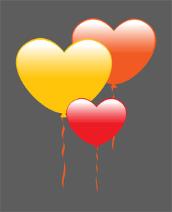 Colorful Hearts Balloons