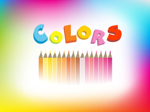 Colorful Illustration Of Crayons