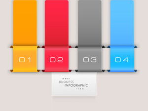 Colorful infographic layout with numbers on skyblue background