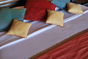 Colorful Interior Detail Of A Luxury Hotel Bedroom