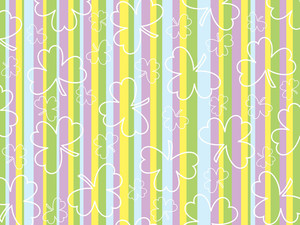 Colorful Lines Backgground With Clover