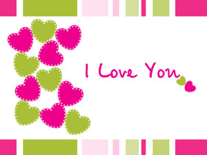 Colorful Love Background Cards