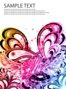 Colorful Music Poster Vector Illustration