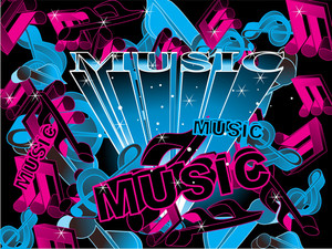 Colorful Musical Background Illustration
