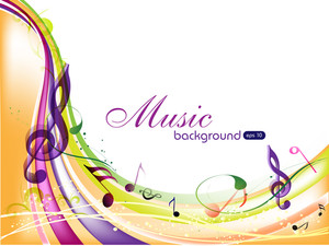 Colorful Musical Background.