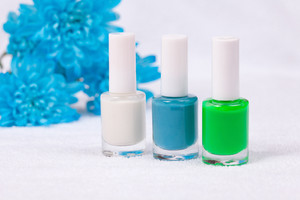 Colorful nails polish for manicure