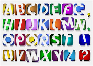 Colorful Original Alphabet