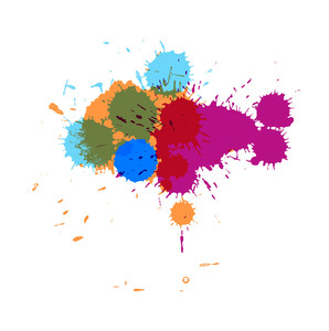 Colorful Paint Drops