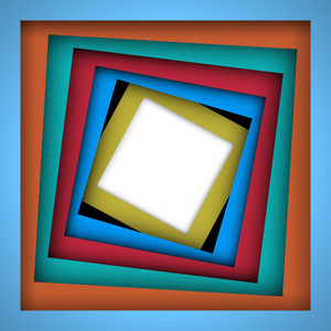 Colorful Paper Square And Frame Background