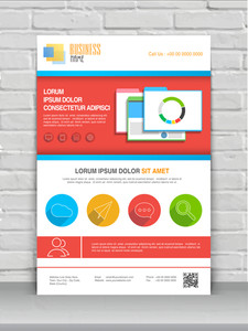 Colorful professional flyer banner or template for your business.