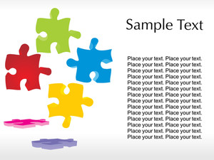 Colorful Puzzle With White Background