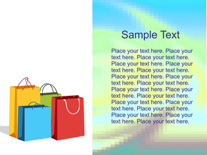 Colorful Shopping Bags With Place For Text
