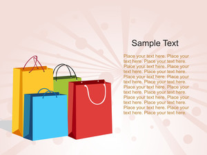 Colorful Shopping Bags With Sample Text