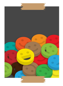 Colorful Smiley Background