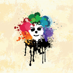 Colorful Splatter Face