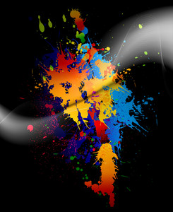 Colorful Splatter Vector Illustration