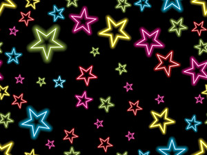 Colorful Star On Black Background