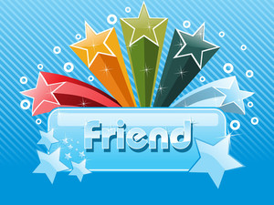 Colorful Star With Friendship Day Banner