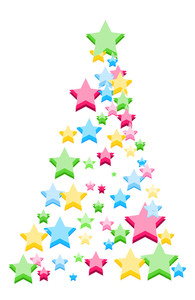 Colorful Stars Christmas Tree