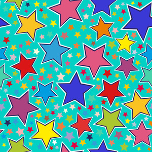 Colorful Stars Seamless Pattern