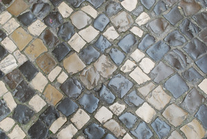 "Colorful Stones Pavement Also Know As ""calÁada"""