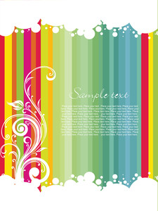 Colorful Striped Line Background With Sample Text