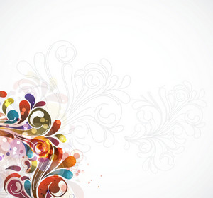 Colorful Swirls Background Vector Illustration