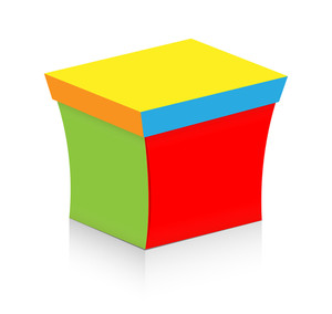 Colorful Vector Box Isolated