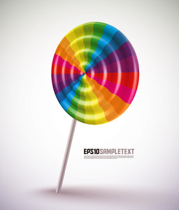 Colorful Vector Lollipop