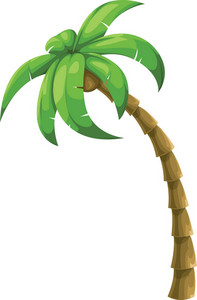 Colorful Vector Palm Tree