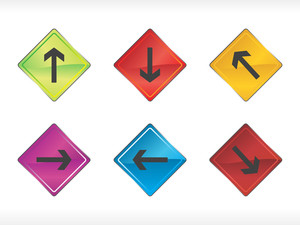 Colourful Arrow Arrows Set