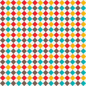 Colourful Diamond Pattern